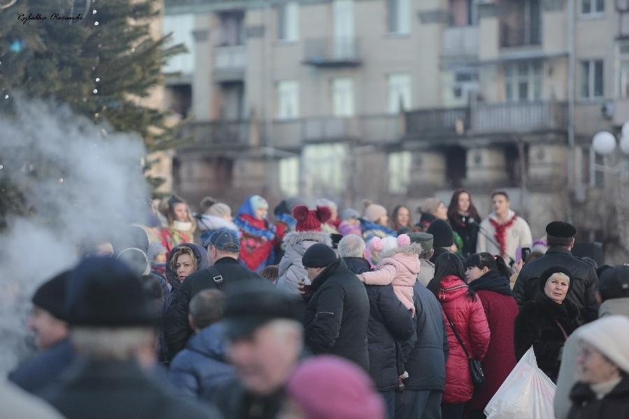 Колядки на Соборній площі Черкас