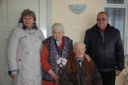 На Шполянщині вітали поважних ювілярів