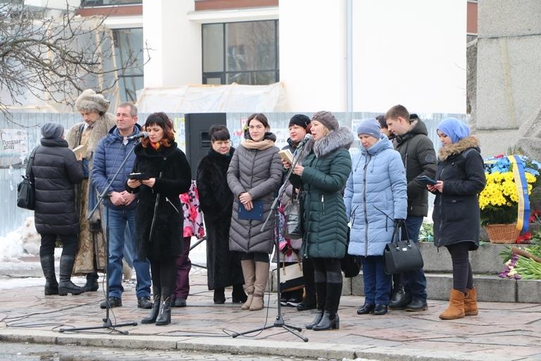 До дня народження Шевченка в середмісті Черкас читали його поезію