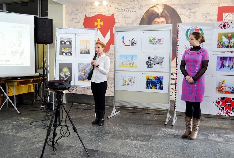 У Черкасах відкрили виставку карикатур «АнтиЛокшина»