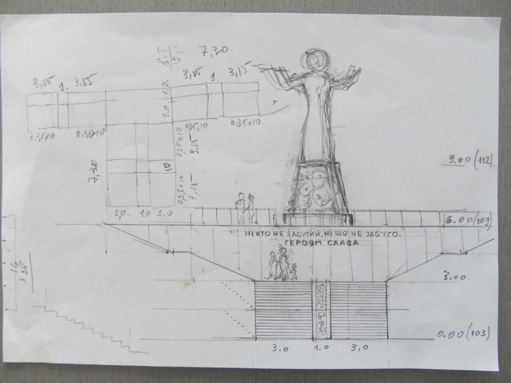 Відомий черкаський архітектор ініціював здійснення повної реконструкції Пагорба Слави