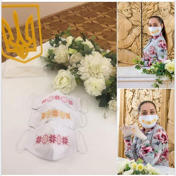 Працівники черкаських ДРАЦСів розписуватимуть наречених у вишитих масках