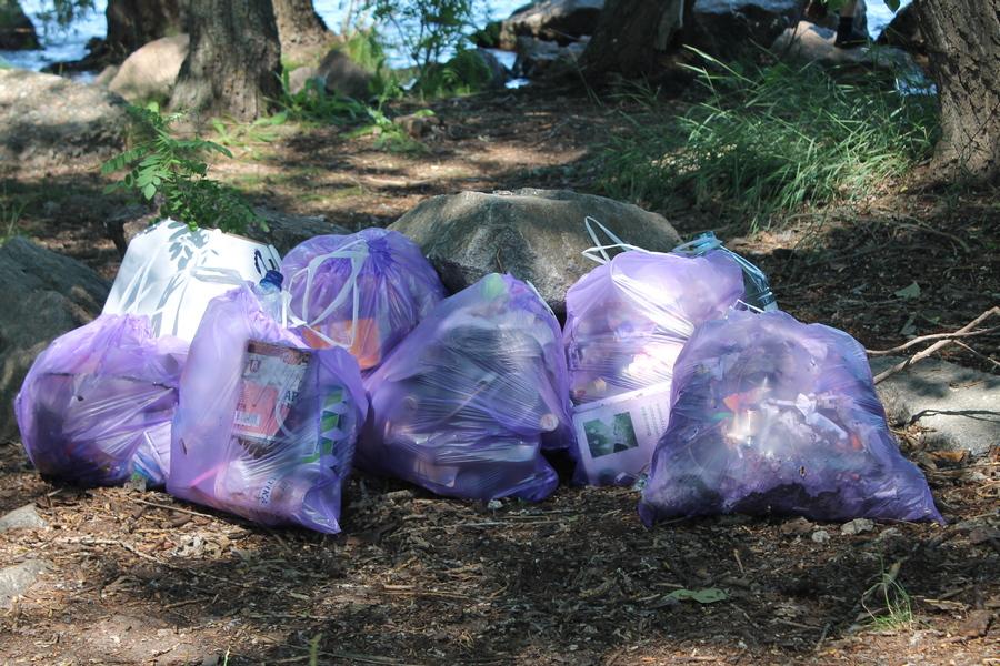 Активна молодь Черкас прибрала сміття на узбережжі Дніпра