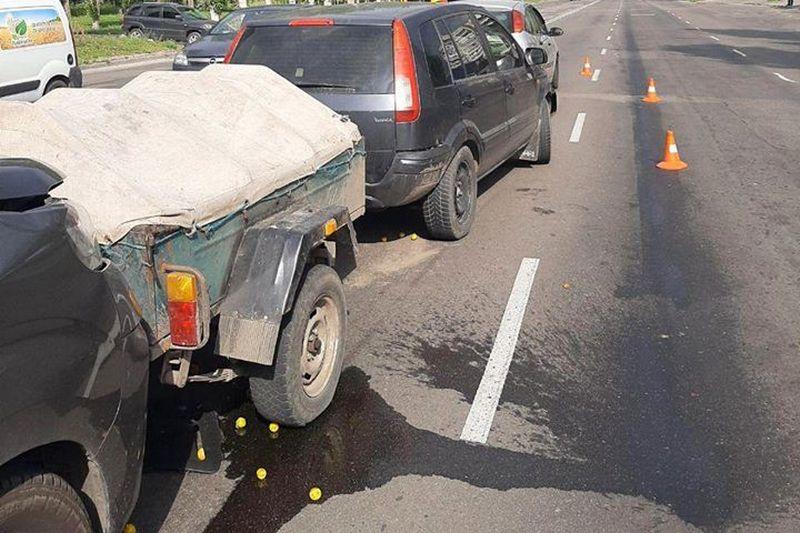 У Черкасах в аварію потрапили одночасно три машини