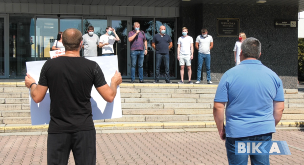 «Ми будемо з вами до кінця»: у Черкасах «Вільні демократи» виступили за підтримку ОСББ