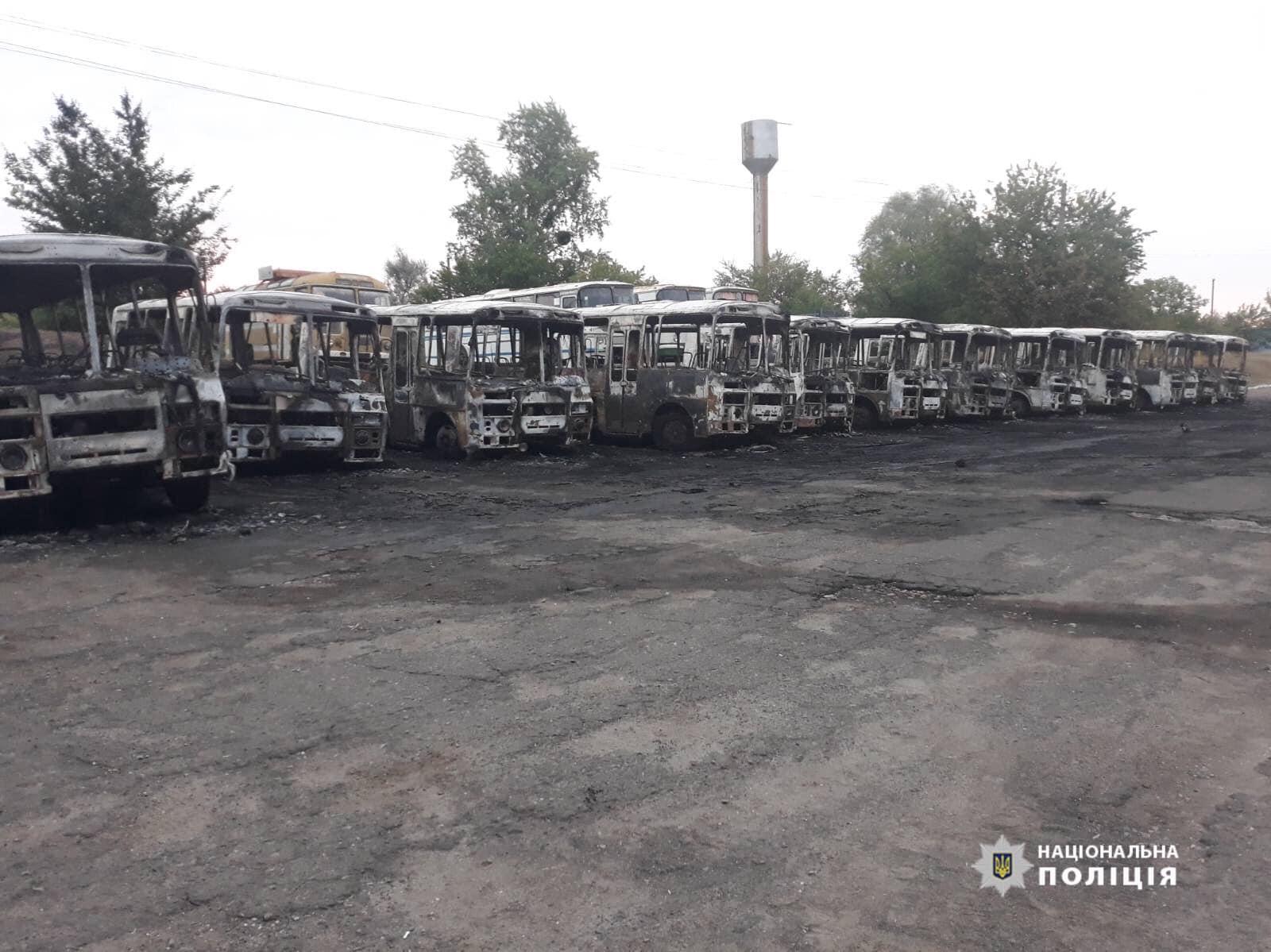 Черкаська поліція розслідує загорання автобусів у Золотоноші