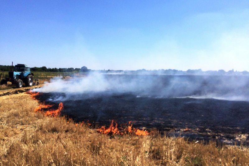 На Черкащині пожежі охопили 8 гектарів землі
