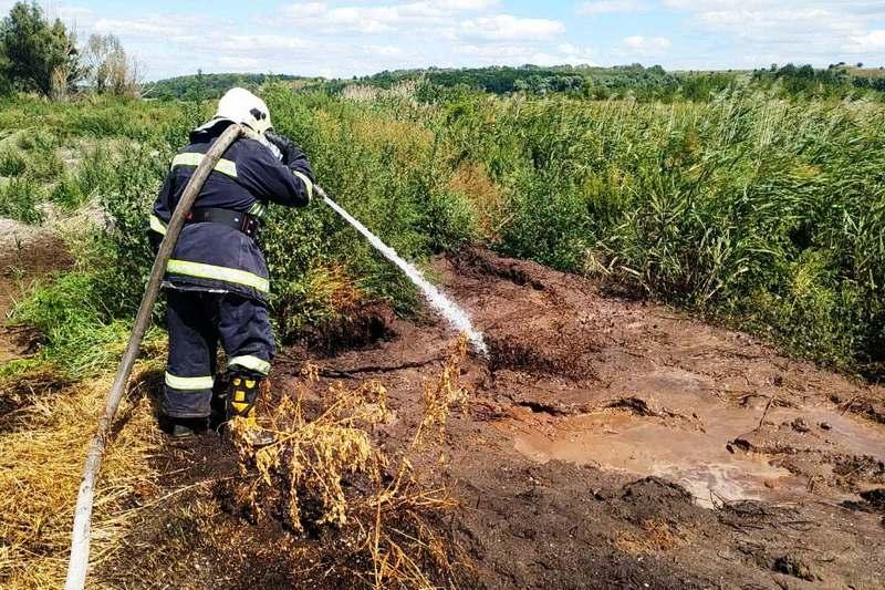 На Золотоніщині аеророзвідка виявили загорання торфу
