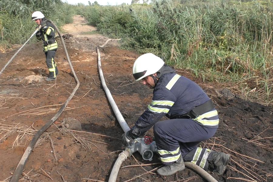 На Черкащині ліквідували загорання торф'яного ґрунту (ВІДЕО)
