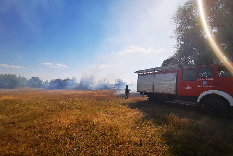 На Черкащині сталося десять пожеж на відкритих територіях