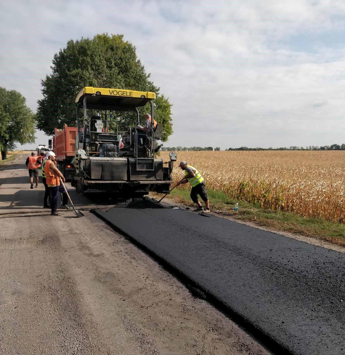 На Чорнобаївщині ремонтують дорогу до Богодухівки