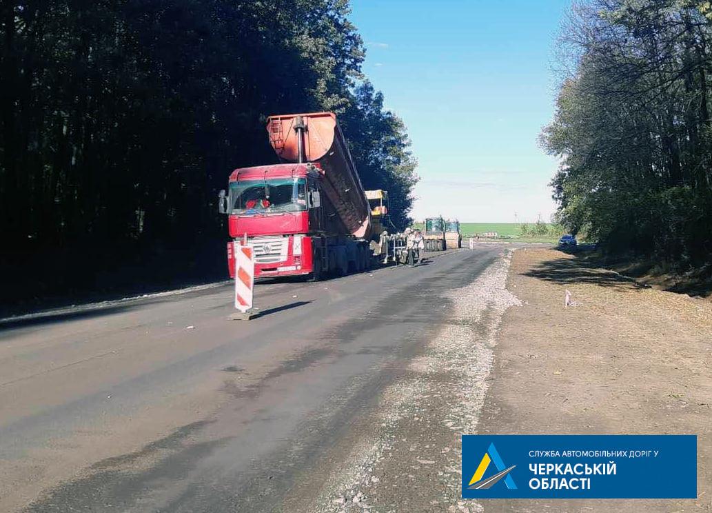 На Уманщині розпочалися роботи з ремонту автодороги міжнародного значення