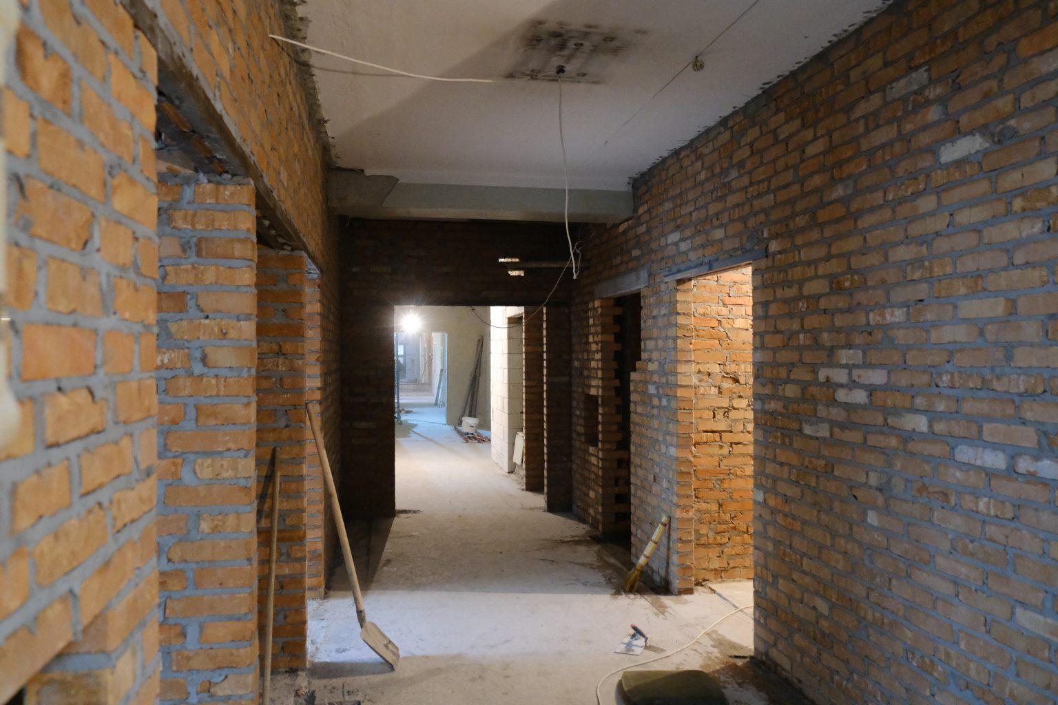 У Черкасах тривають ремонтні роботи в приймальному відділенні обласної лікарні