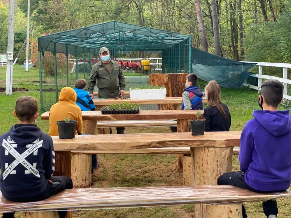 На Черкащині відкрили клас для лісової школи просто неба