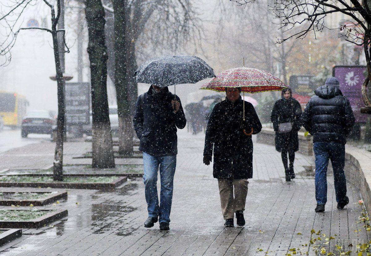 На Черкащині сьогодні прогнозують мокрий сніг