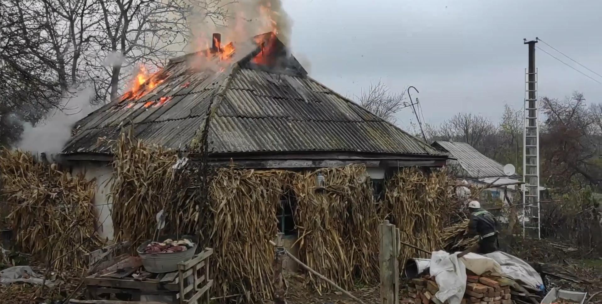 На Черкащині ліквідували пожежу житлового будинку