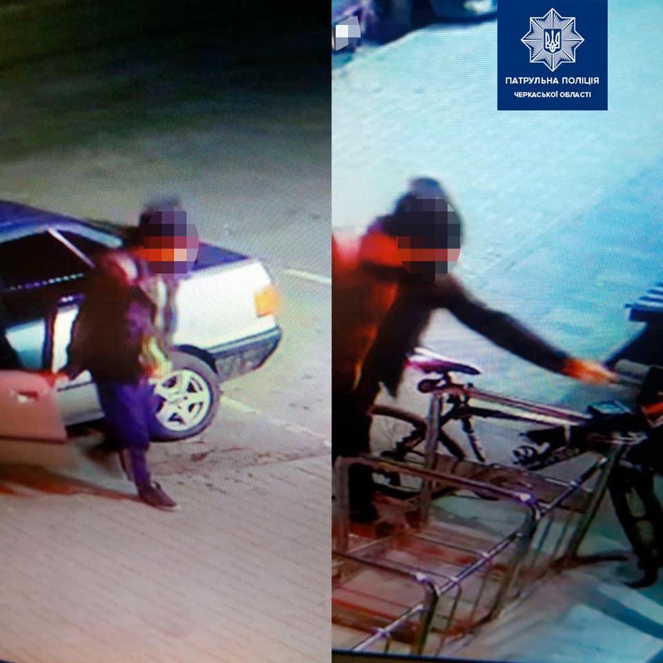 У Черкасах крадій поцупив ліхтарик із велосипеда