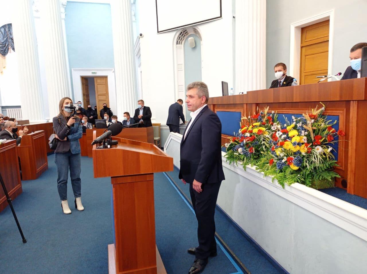 Черкаську обласну раду вдруге очолив Анатолій Підгорний