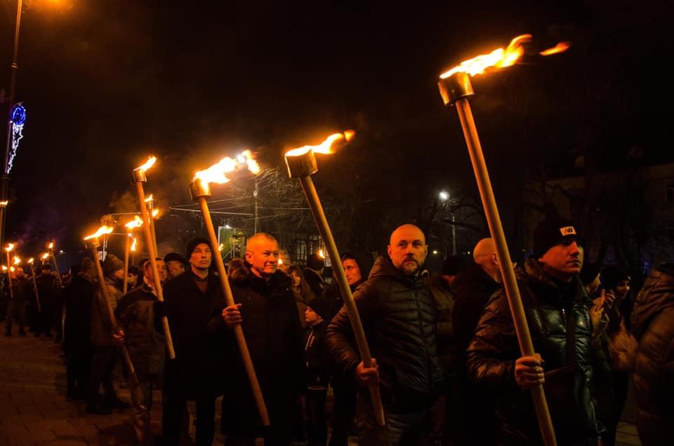 У Черкасах відбувся марш на честь Степана Бандери