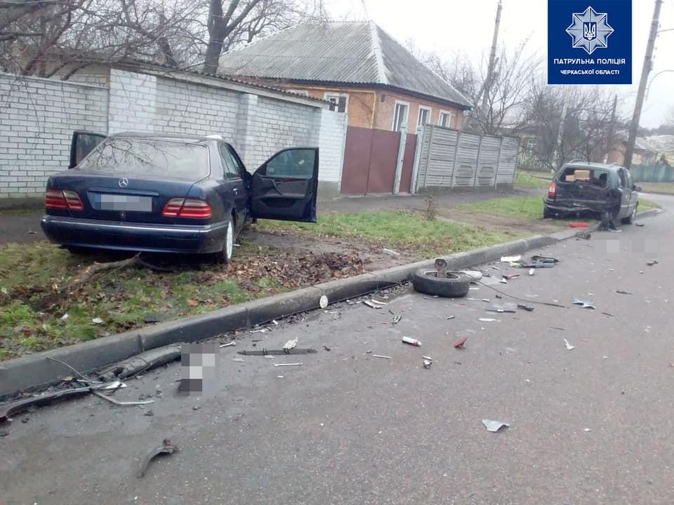 У Черкасах нетверезий водій потрапив у ДТП