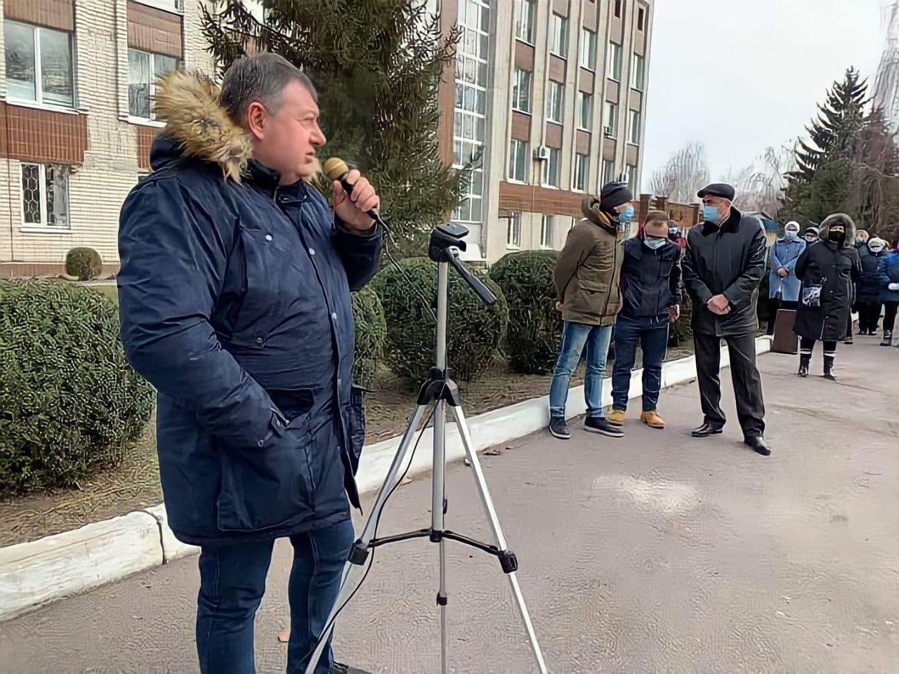 Працівники «Черкасиводоканалу» мітингують проти звільнення нинішнього керівника