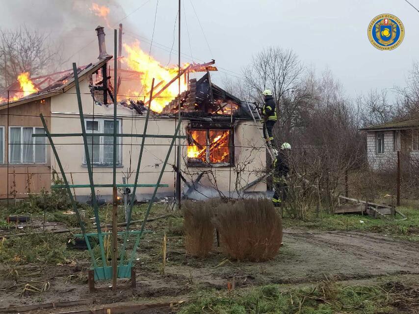 На Черкащині під час пожежі загинув чоловік (ФОТО)
