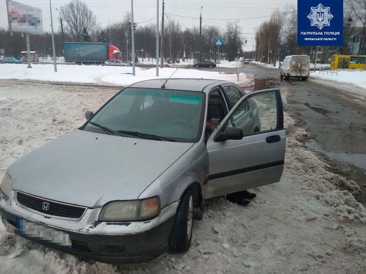 У Черкасах затримали нетверезого чоловіка без водійських прав