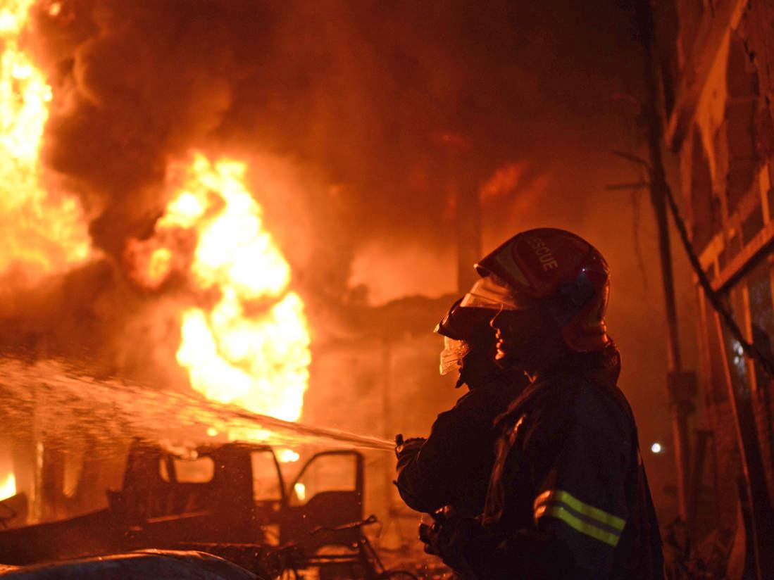 На Чорнобаївщині вночі загорілася баня