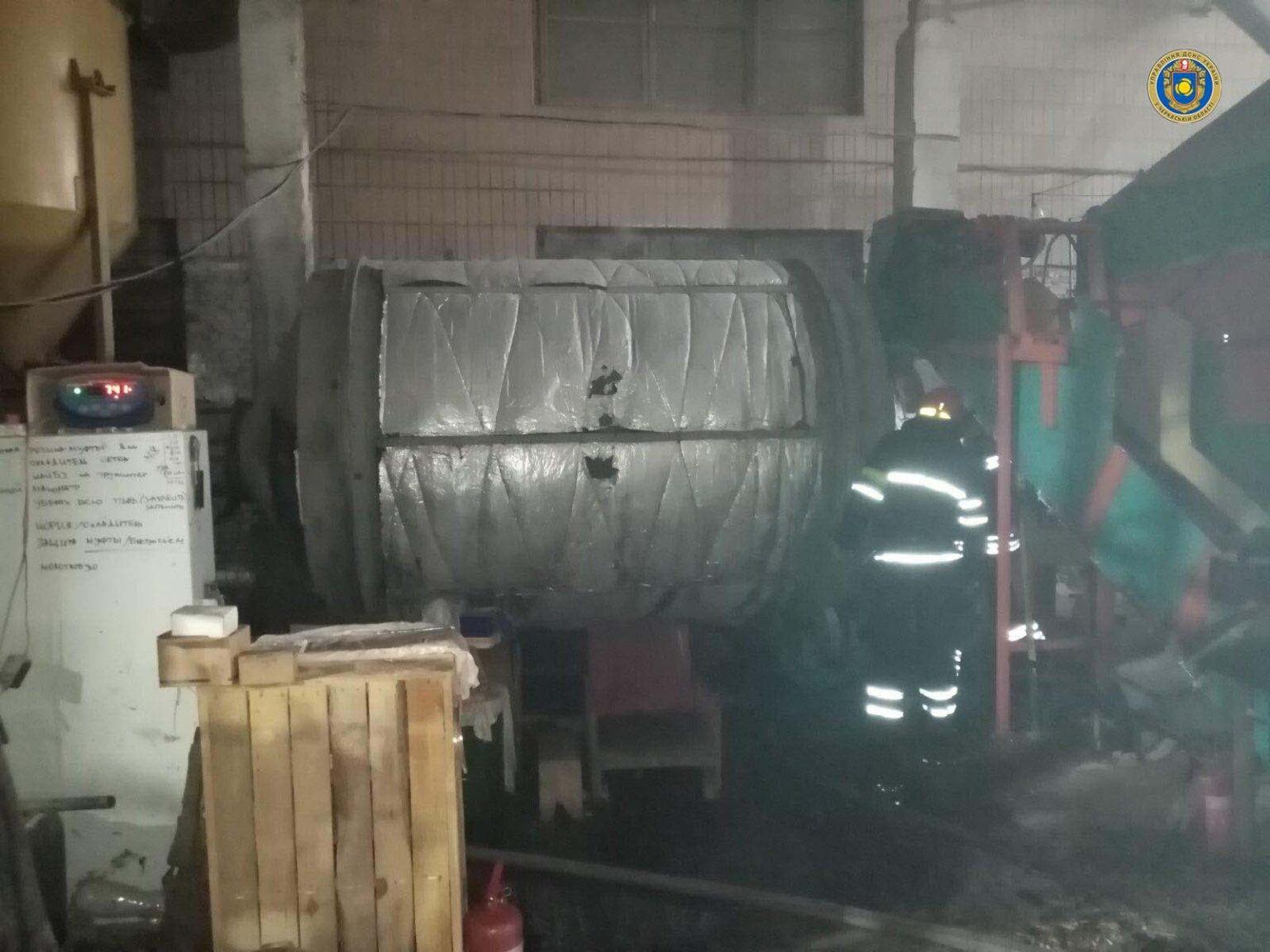 На черкаському підприємстві виникла пожежа
