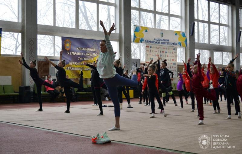 Анна Різатдінова провела майстер-клас для гімнасток Черкащини