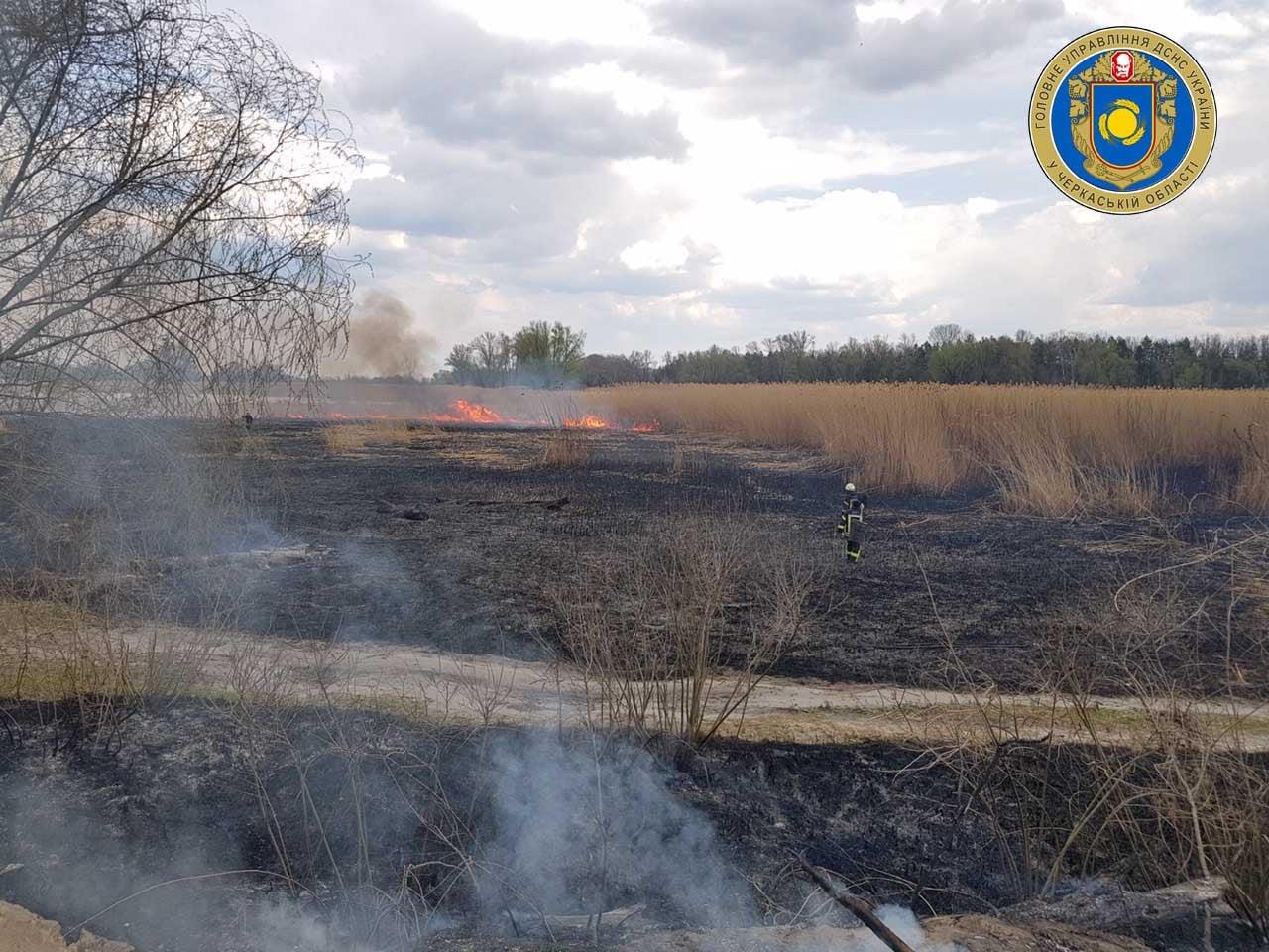 Рятувальники Черкащини ліквідували чотири пожежі (ФОТО)