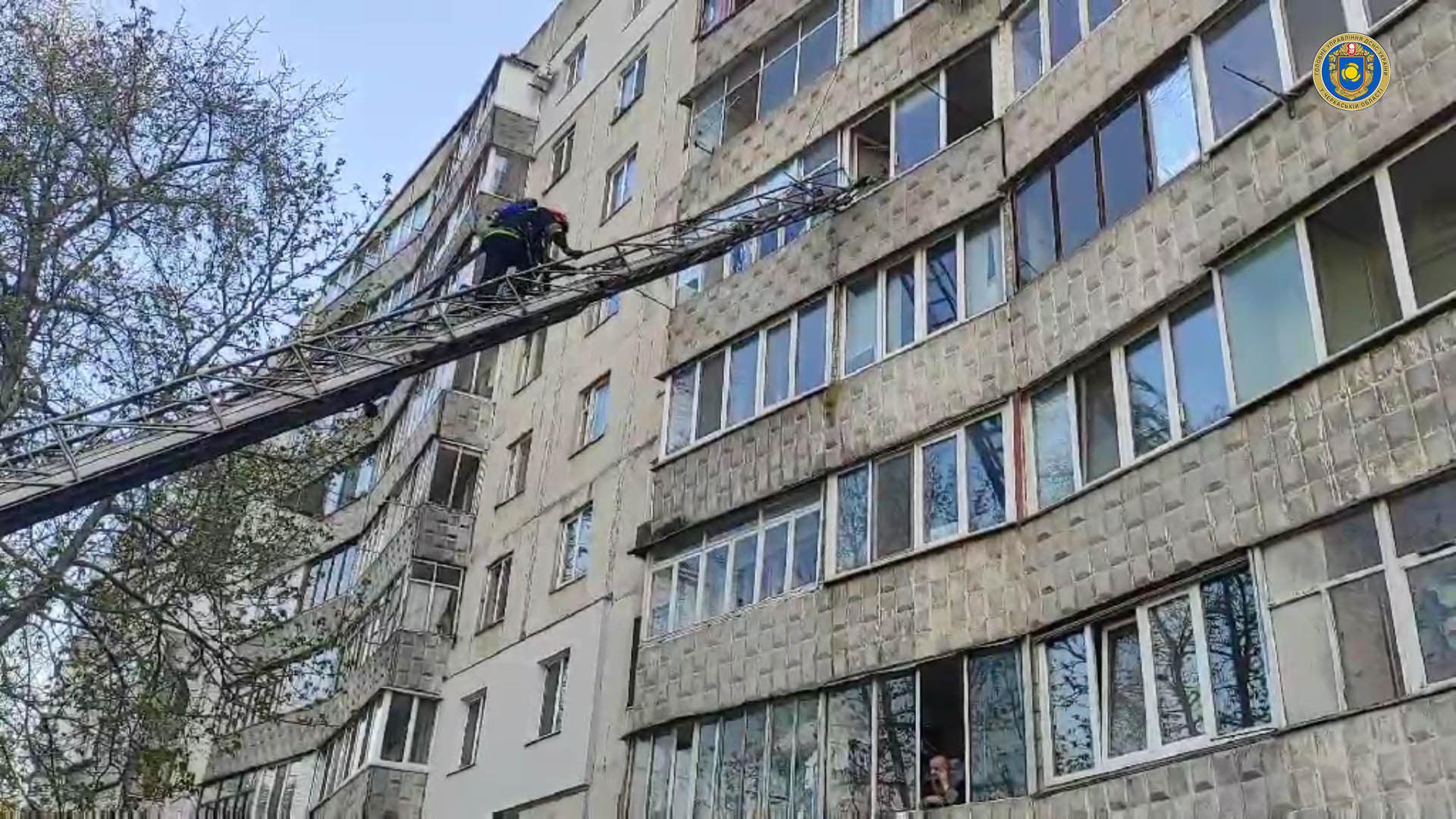 У Черкасах рятувальники двічі гасили пожежув одній квартирі