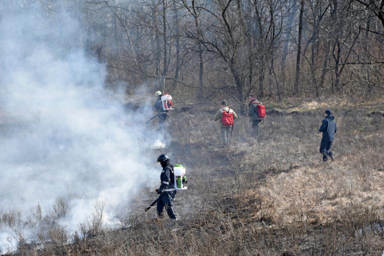 У держлісгоспах області тривають тактико-спеціальні навчання з гасіння умовних лісових пожеж