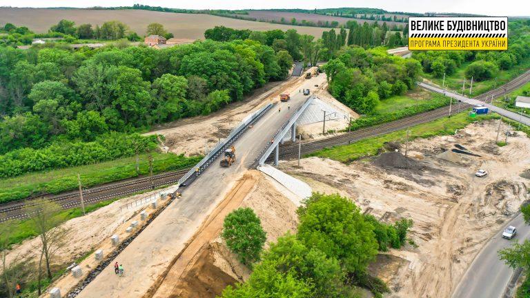 У Городищі завершують будівництво шляхопроводу
