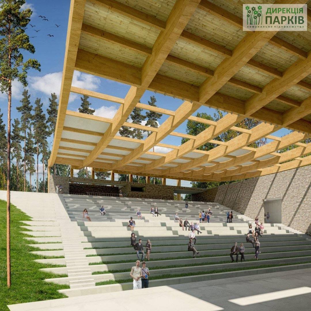 На будівництво літнього кінотеатру в «Сосновому бору» знадобиться близько 15 млн гривень