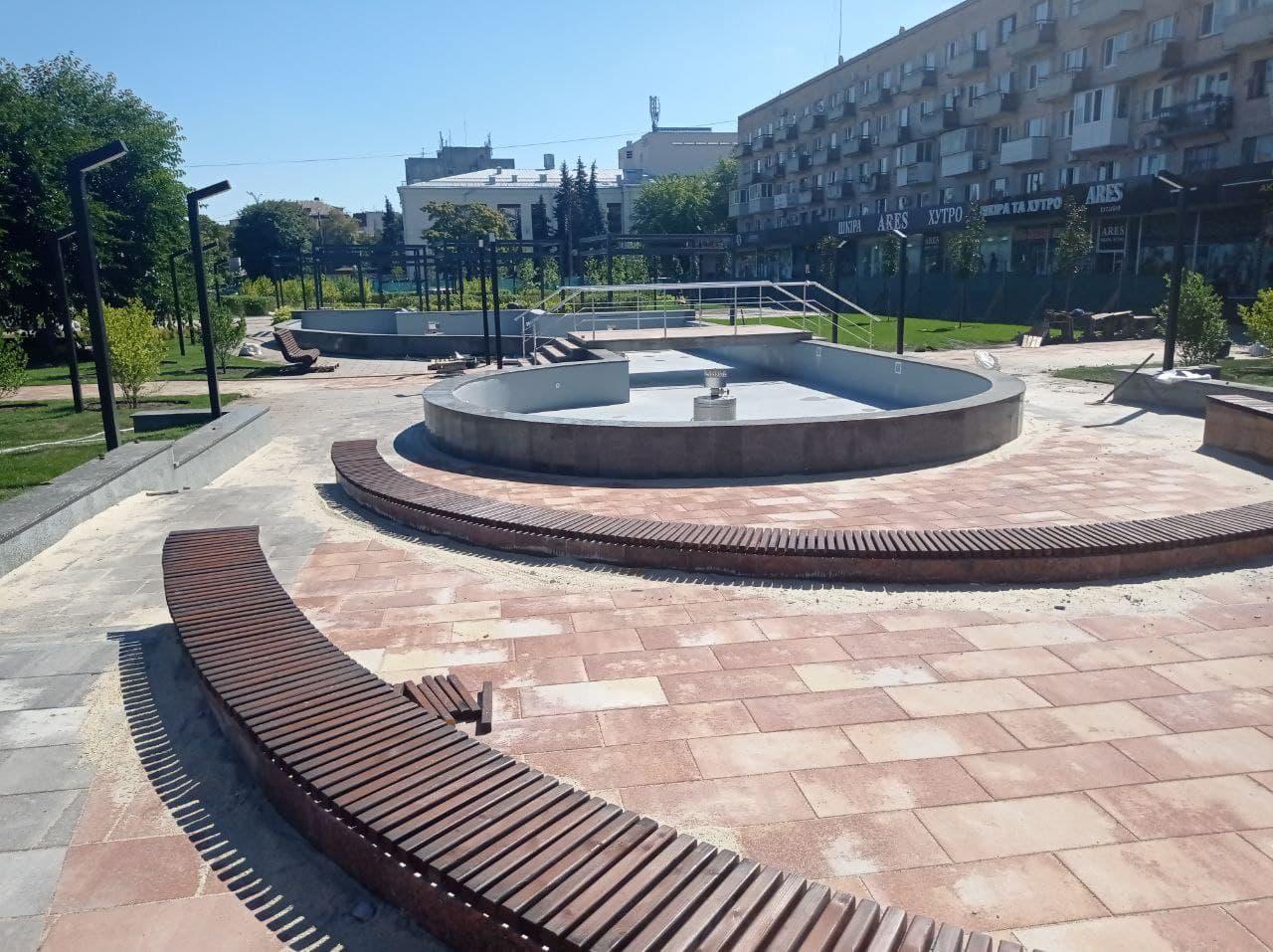 Сквер «Юність» у Черкасах обіцяють відкрити до Дня міста