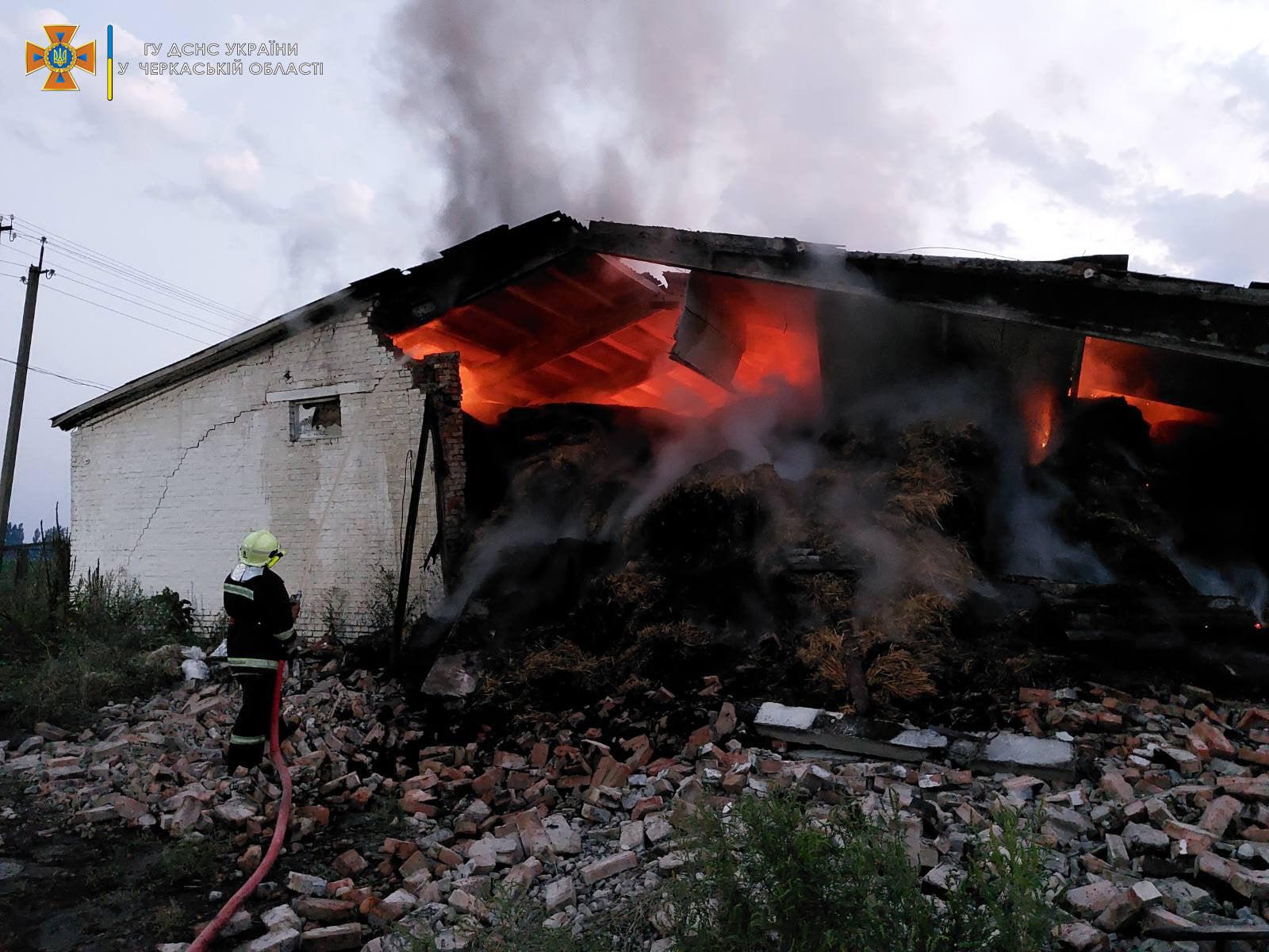 На Золотоніщині в пожежі згоріла солома