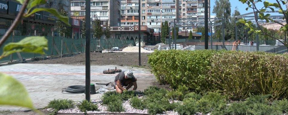 Витратили 18 млн грн: як триває реконструкція скверу «Юність» у Черкасах