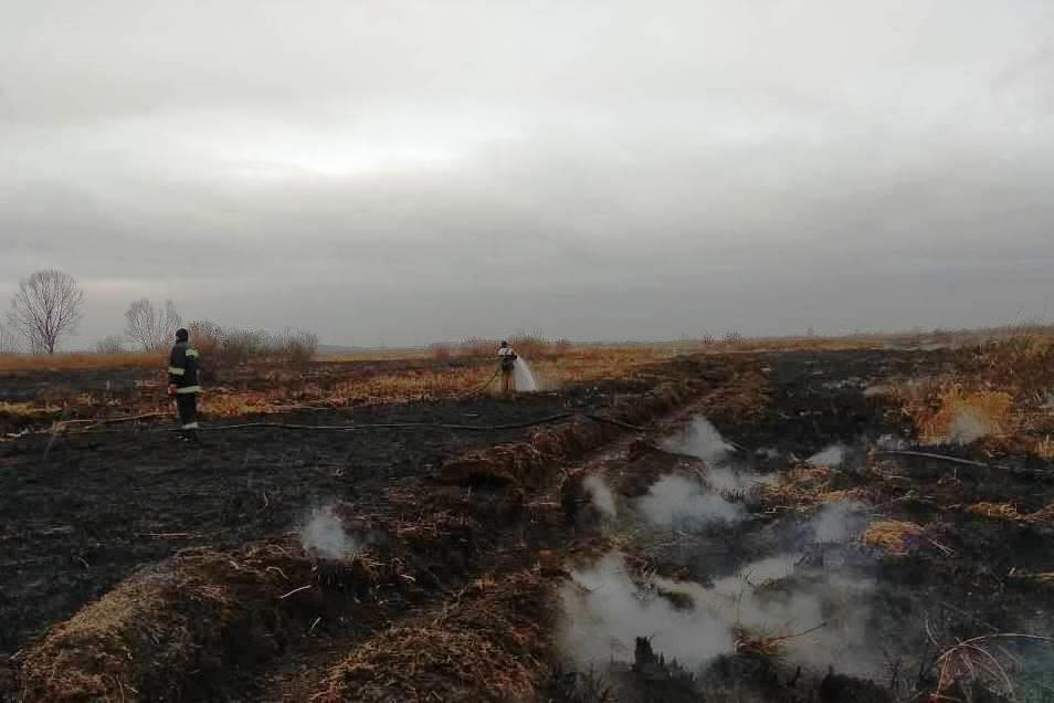 На Золотоніщині другий день ліквідовують займання торф'яного ґрунту