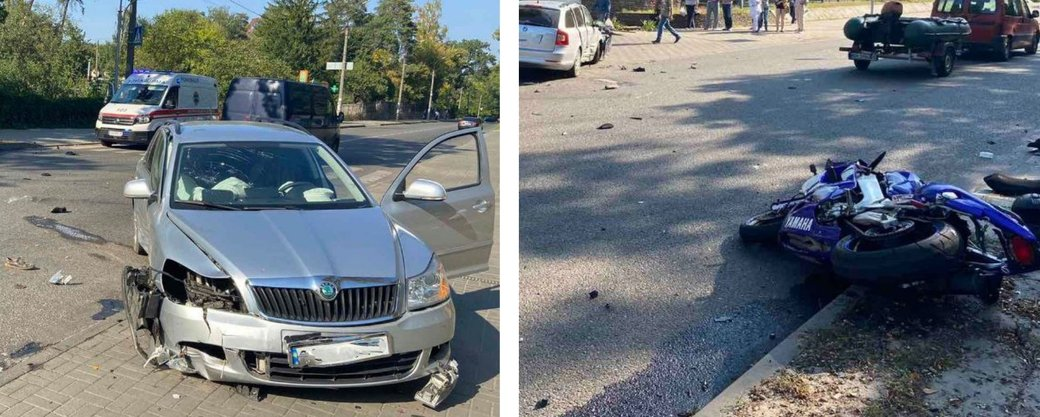ДТП біля Черкаської обласної лікарні: водій мотоцикла помер