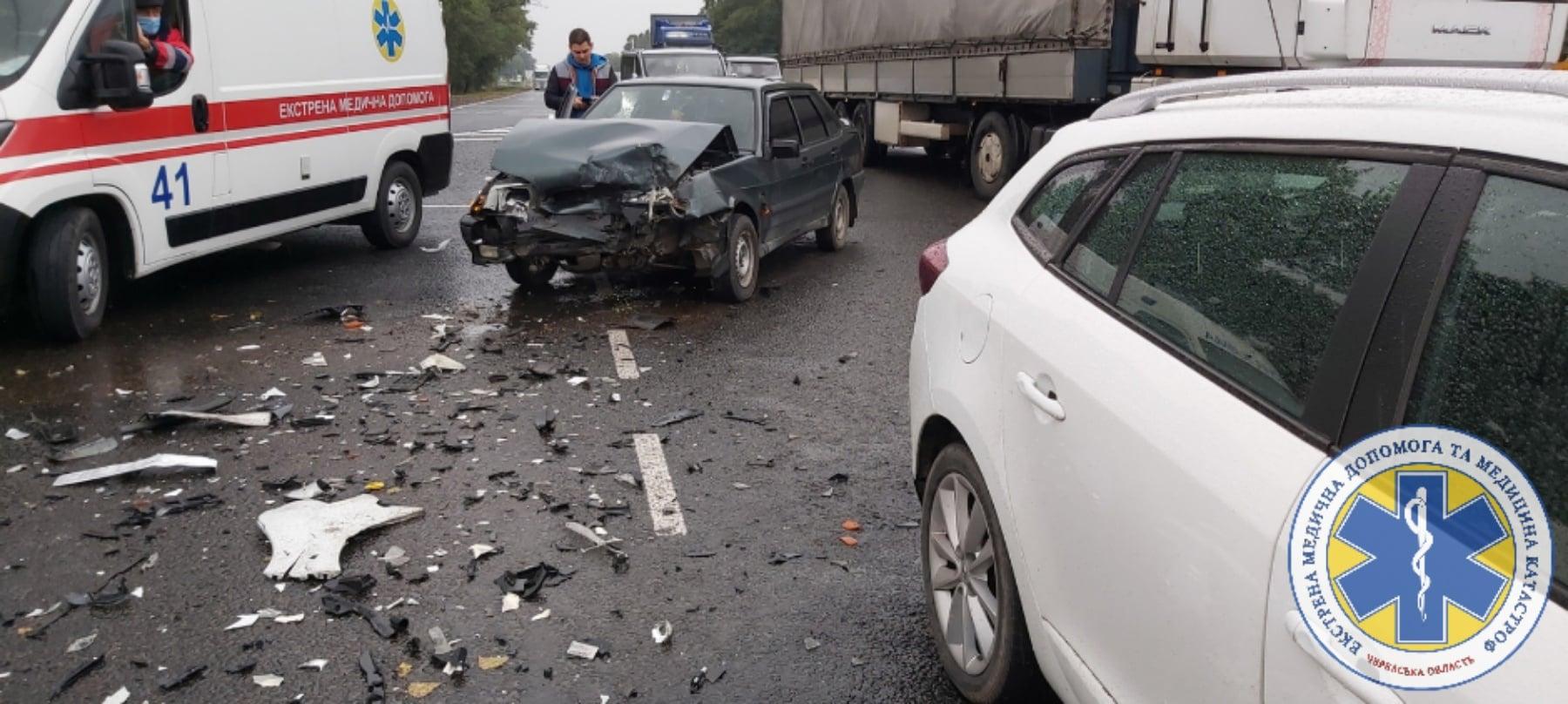 Дві аварії сталися на виїзді з Черкас