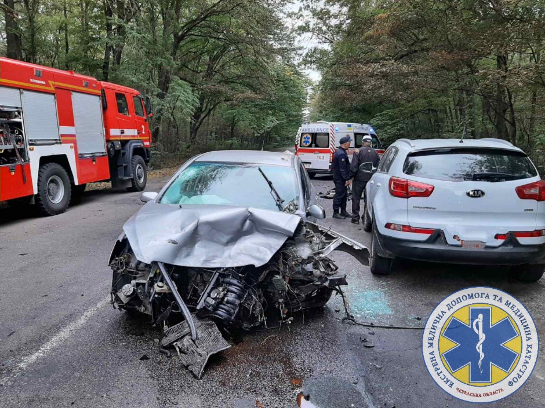 Біля Черкас не розминулися дві автіки: троє осіб травмувалися