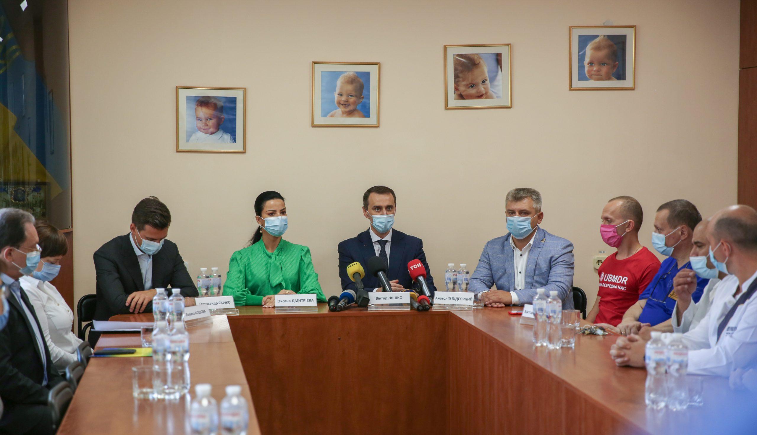 Віктор Ляшко провів брифінг щодо трансплантації в Черкаському онкодиспансері