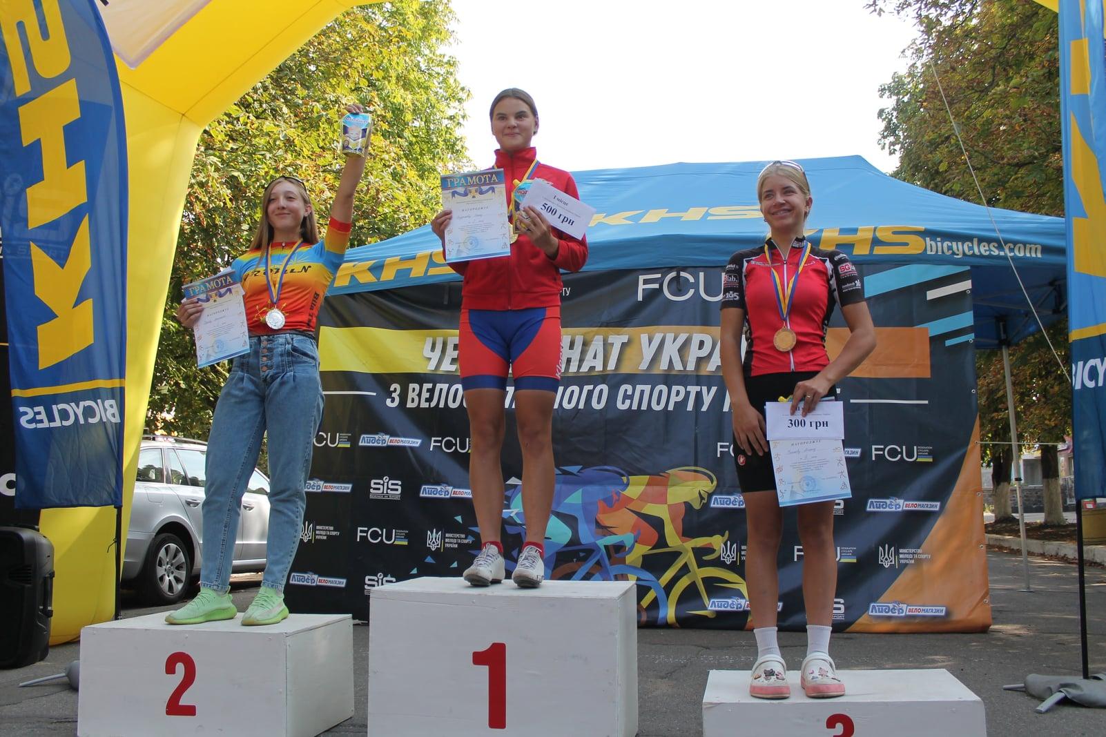 Черкаська велосипедистка виборола золоту нагороду на чемпіонаті України