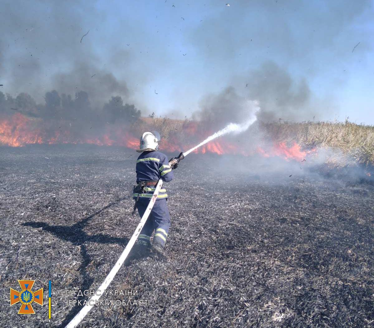 На Черкащині протягом доби рятувальники гасили три пожежі