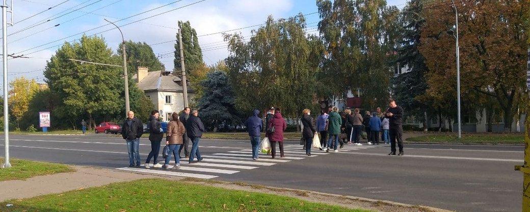 У Черкасах зупинили рух перехрестям через мітингувальників